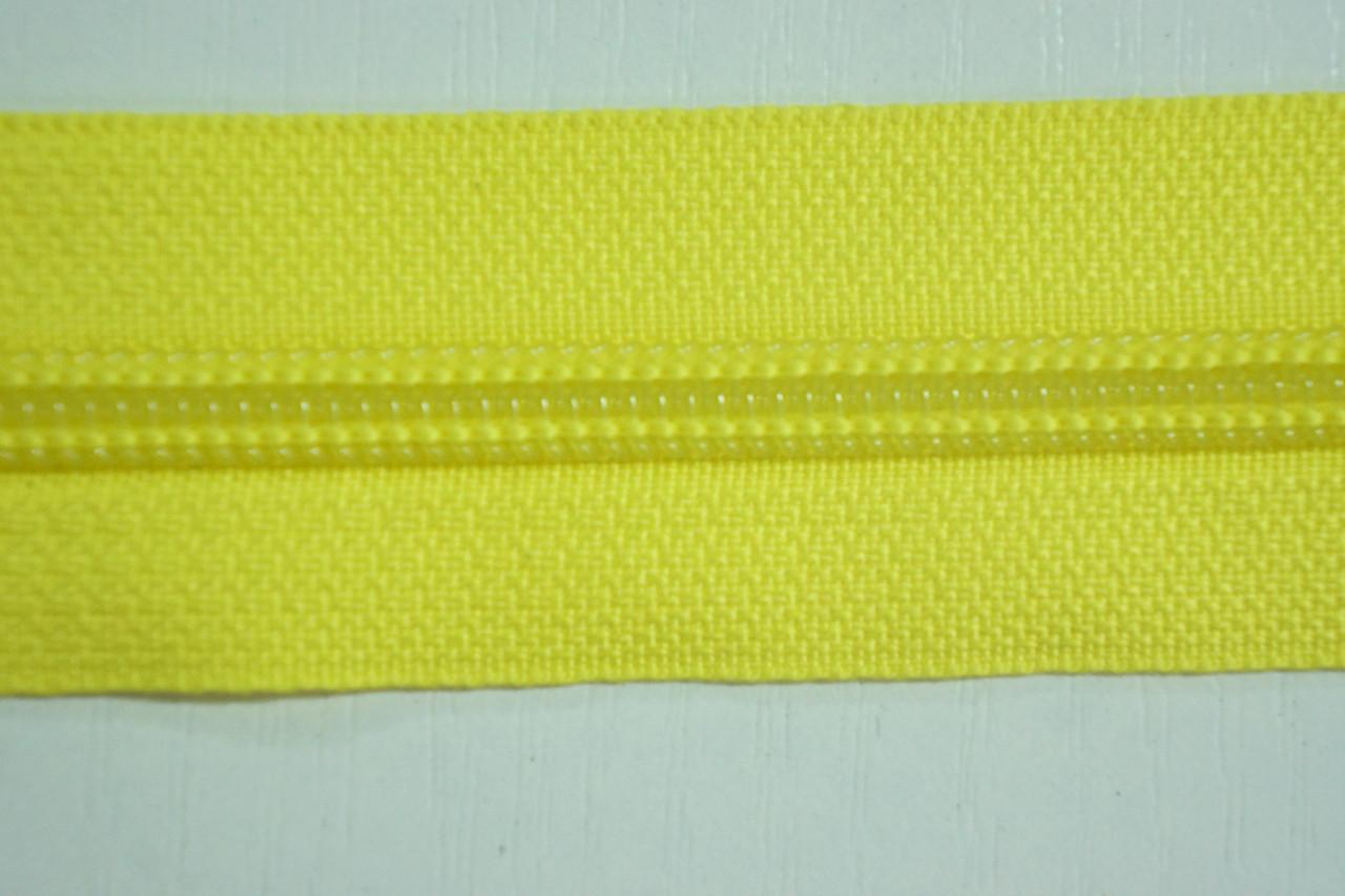 Молния лента (метражка)  №7 (10), цвет №504 желтый