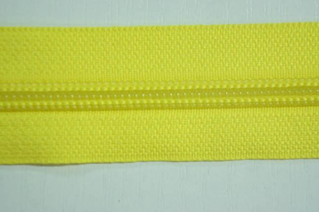 Молния лента (метражка)  №7 (10), цвет №504 желтый, фото 2