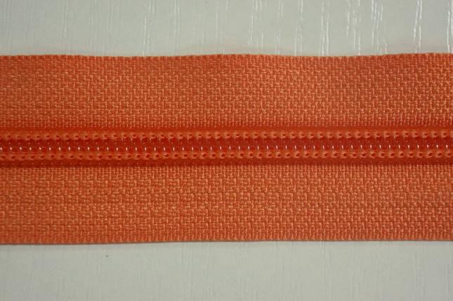 Молния лента (метражка)  №7 (10), цвет №814 оранжевый, фото 2