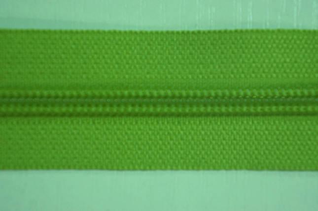 Молния лента (метражка)  №7 (10), цвет №827 салатовый, фото 2