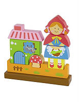 """Пазл Viga Toys """"Красная Шапочка"""", развивающие пазлы, деревянные пазлы, 3D магнитные пазлы"""