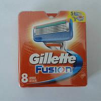 Кассеты для бритья Gillette Fusion 8 шт. ( Картриджи, лезвия Жиллет фьюжин оригинал производство США) , фото 1