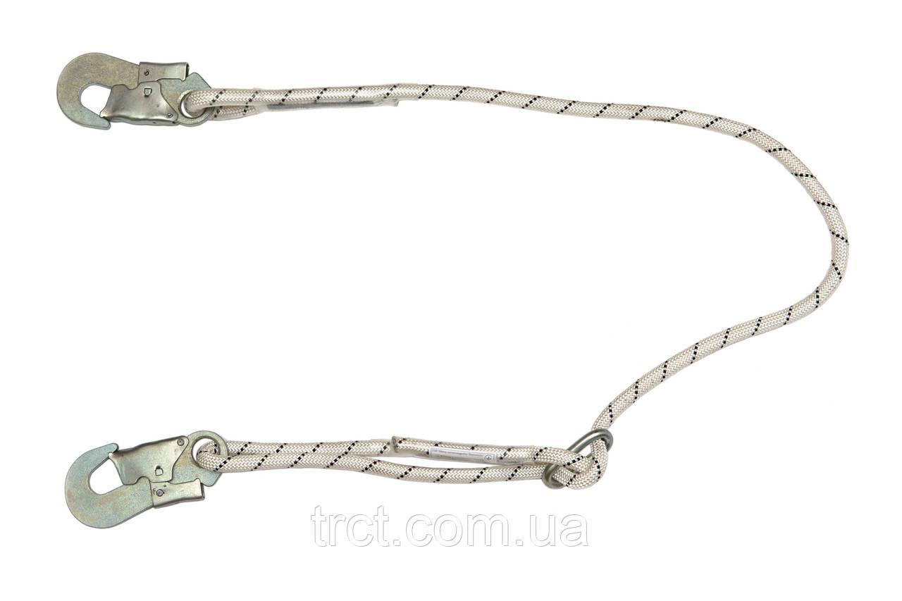 Строп из плетеного шнура с двумя карабинами