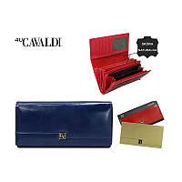 Женский кошелек бренд CAVALDI Польша кожаный синий