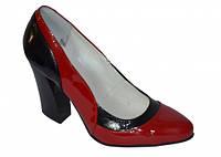 Женские лаковые туфли лодочки на высоком каблуке