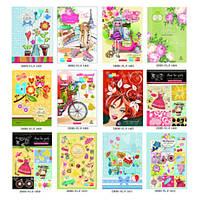 Щоденник для дівчаток УКР, диз.1409-1412, В5,7БЦ,48арк тв.обкл+фольга