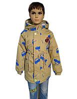 Демисезонная куртка на мальчика с карманами