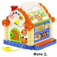 Теремок говорящий, детская интерактивная игрушка. 9196
