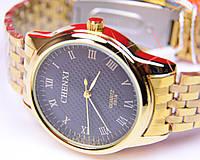 Мужские часы CHENXI Gold черный циферблат, фото 1