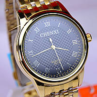 Мужские наручные часы CHENXI Gold черный циферблат