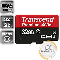 Карта памяти microSD 32Gb Transcend Premium SDHC (class 10 UHS-1) (TS32GUSDCU1)