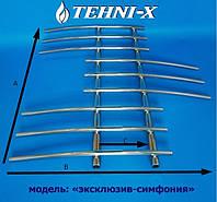 """Водяной полотенцесушитель Tehni-x Эксклюзив """"Симфония"""" высота 90 см, межосевое расстояние 20"""