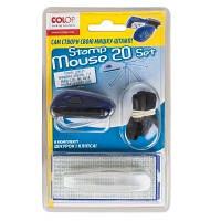 Штамп карманный самонаборной 4-х строчный 14*38 Stamp Mouse цветной корпус