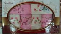 Набор махровых полотенец Gio Ricci 6шт розовый 100% Хлопок Турция