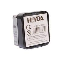 Штемпельная подушка c пигментным чернилом черная 2,5*2,5см Heyda