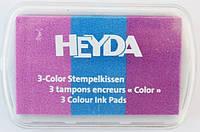 Штемпельная подушка с пигментным чернилом Пастельные оттенки 3 цв в 1 7,5*5см Heyda