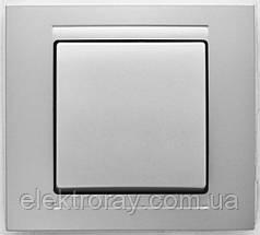 Выключатель Gunsan Moderna Metallic серебро