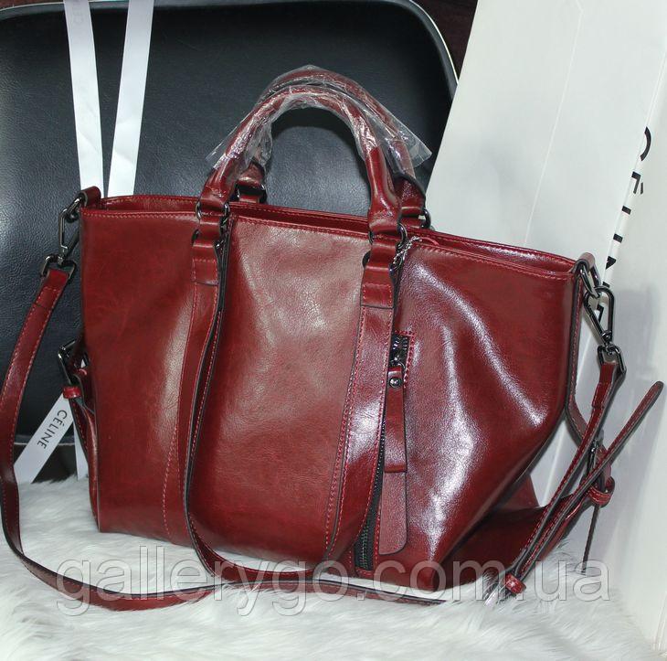 Кожаная женская объемная сумка   продажа, цена в Киевской области ... 55e8d2a6ed5