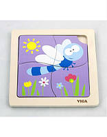 """Пазл Viga Toys """"Стрекоза"""", деревянные пазлы, развивающие пазлы, деревянные игрушки Viga Toys"""
