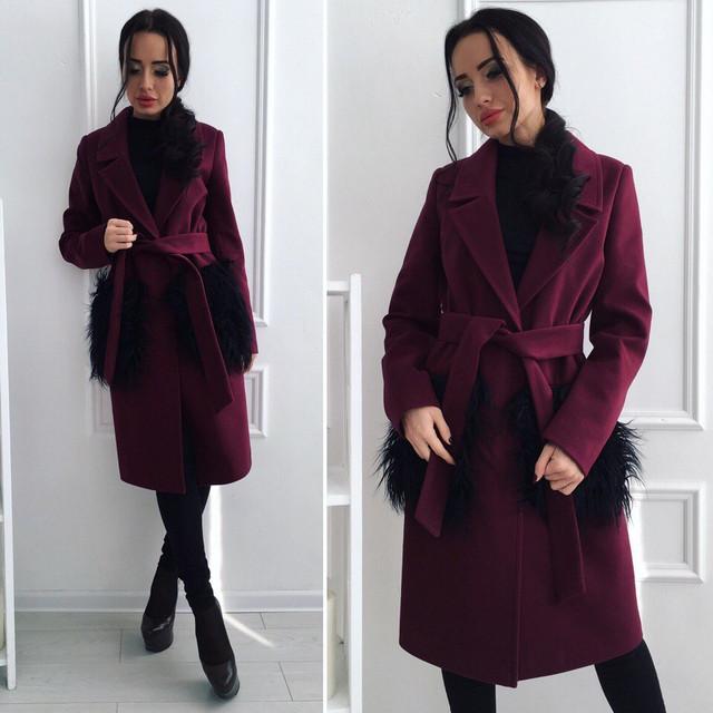Женские кашемировые пальто сезон весна 2017