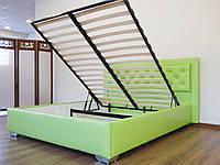 Кровать Аполлон с подъемным механизмом с мягким изголовьем двуспальная