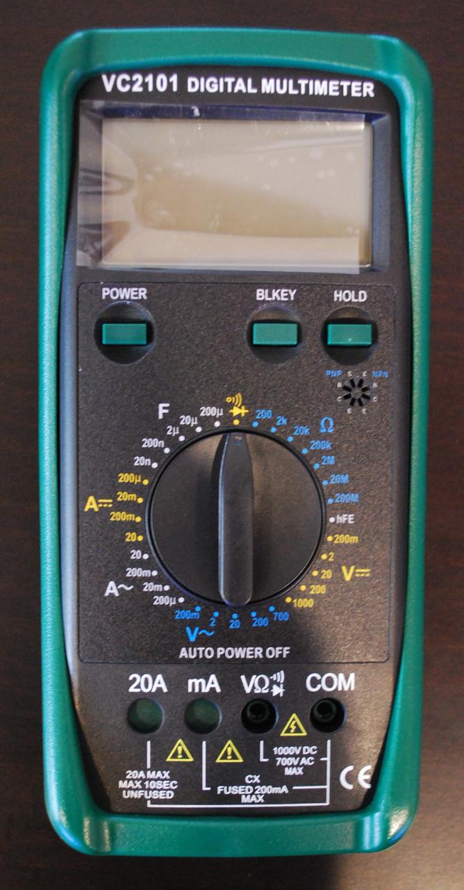 Цифровой мультиметр тестер VC 2101 А306