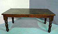 Обеденный стол 4 CM THIC ACACIA DINING TABLE. Натуральное дерево. Цвет венге. Ручная работа. Сделано в Индии.