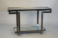 Металлический консольный столик. Цвет Black Nickel. Ручная работа. Сделано в Индии.
