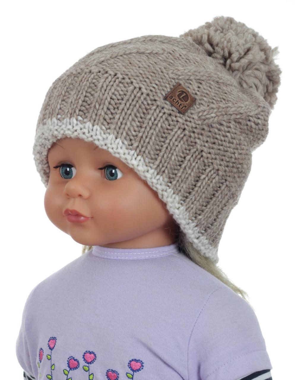 Тепла в'язана шапочка для дівчинки підлітка ACHTI Польща