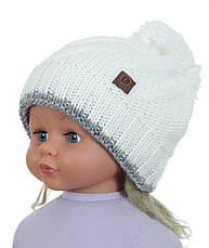 Тепла в'язана шапочка для дівчинки підлітка ACHTI Польща, фото 2