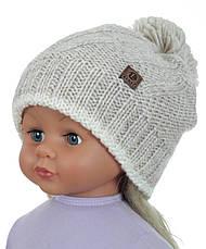 Тепла в'язана шапочка для дівчинки підлітка ACHTI Польща, фото 3