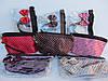 Набор косметичек 2х предметный с бантиком и длинными ручками