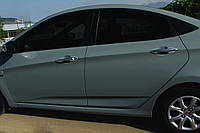 Накладки на ручки (нерж) Hyundai Accent 4
