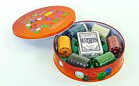 Набор для покера в круглой металлической коробке 120 шт