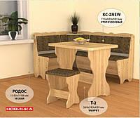 """Уголок кухонный """"Родос"""" с раскладным столом"""