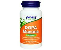 NOW Активное долголетие Допа Мукуна DOPA Mucuna (90 veg caps)