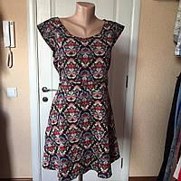 Платье женское летнее цветное короткое с коротким рукавом  Mela London