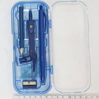 Готовальня 8 предметов (каранд+циркуль+ручк+точилк+ 4линей)