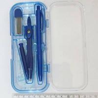 Готовальня 7предметов (мех-циркуль, ручка, гриф, линейки)