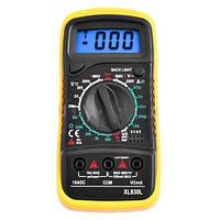 Мультиметр XL830L, напряжение, ток, сопротивление, ж/к дисплей, зуммер, защита, память, тест диодов