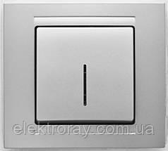 Выключатель с подсветкой Gunsan Moderna Metallic серебро