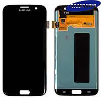 Дисплейный модуль (экран с сенсором) для Samsung Galaxy S7 EDGE G935F, черный, оригинал