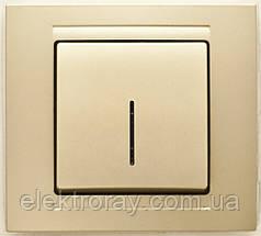 Выключатель с подсветкой Gunsan Moderna Metallic золото