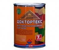 Доктортекс ИР-013 - лак-антисептик для дерева, 3 л (Ирком) - белый, орех,вишня, палисандр