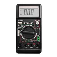 Профессиональный мультиметр DT 890 C+, напряжение, ток, сопротивление, емкость, температура, зуммер