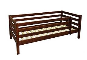 Дитяче ліжко з натурального дерева, з бортами. Модель Л-135. Скіф