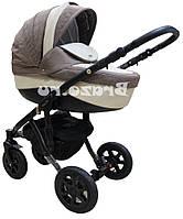 Детская коляска универсальная 2 в 1 Adamex Barletta 50% кожа 897S (Адамекс Барлетта)