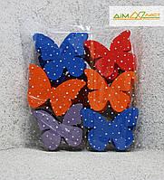 Метелики середні (15см) 30шт. фарбовані