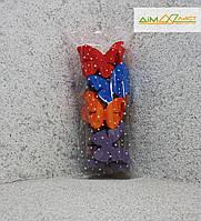 Метелики маленькі (9см) 25шт. фарбовані