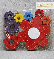 Квіти набір Асорті 24шт. фарбовані